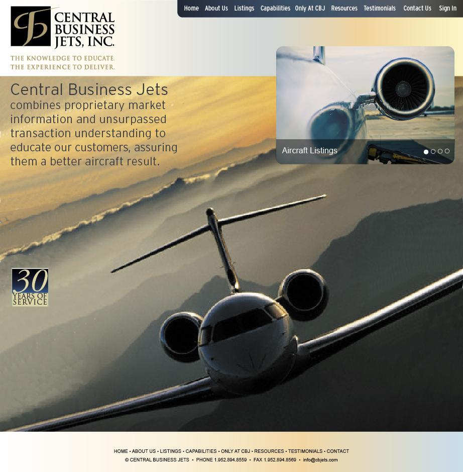 CBJets Website Design
