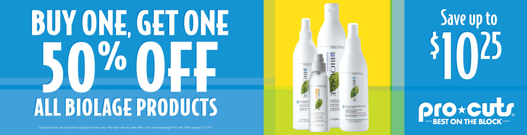 Front Counter Insert Biolage / ProCuts