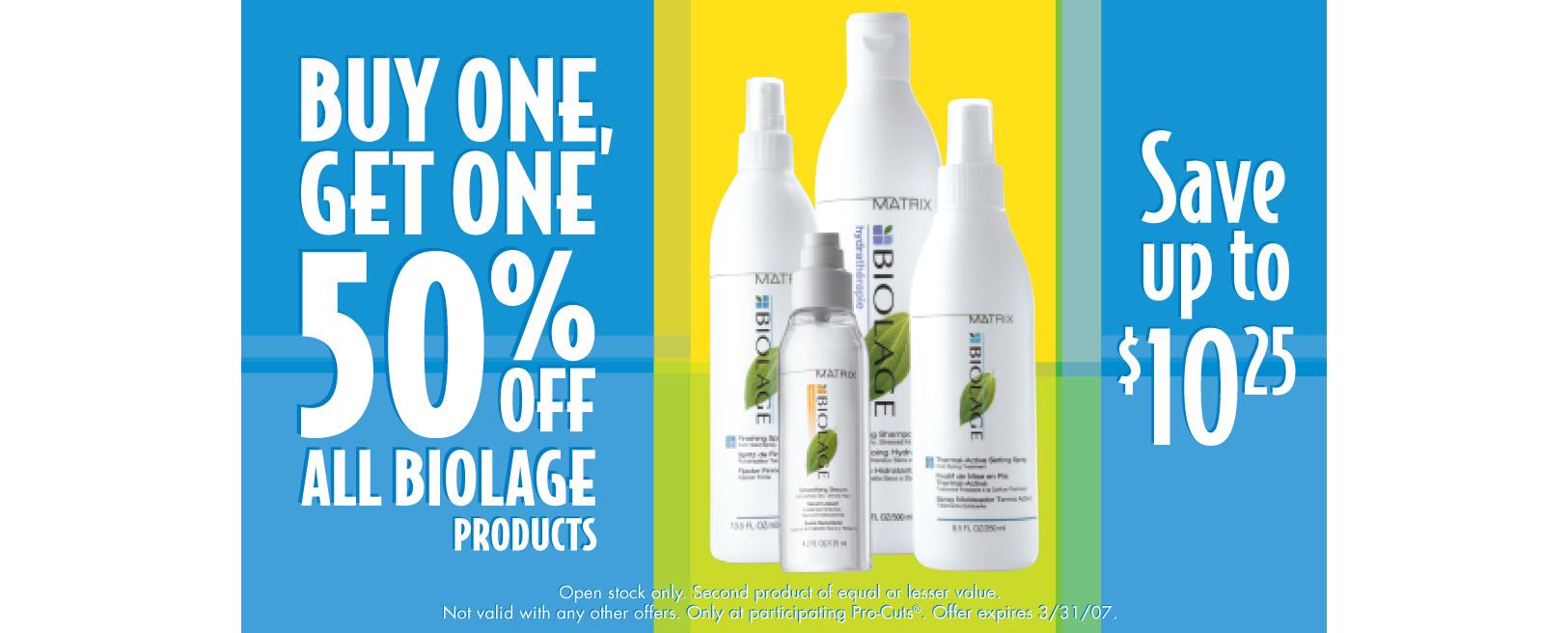 Retail Signage - ProCuts / Biolage