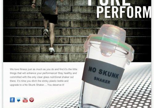 Website design, nutrition, health industry. No Skunk Shaker