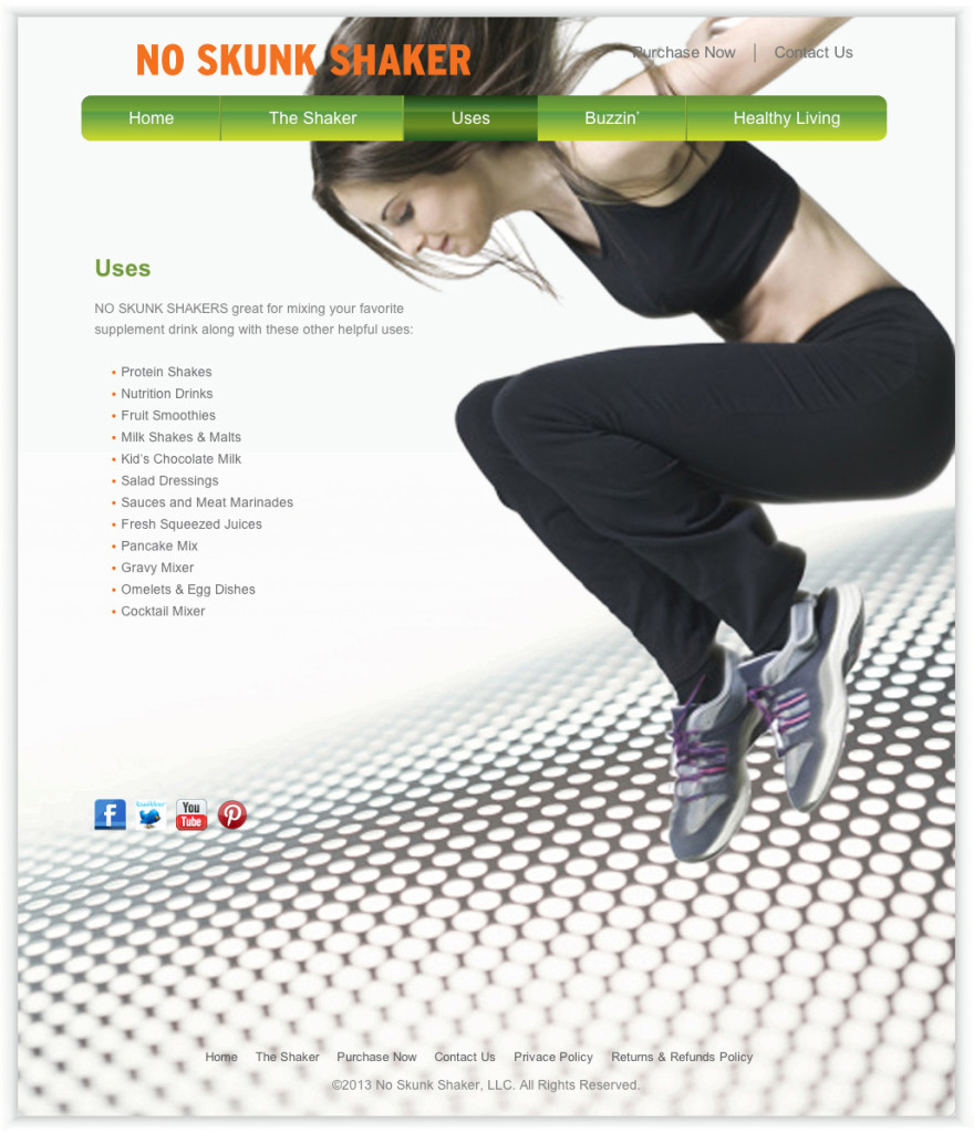 Health & Fitness Graphic Design, Website