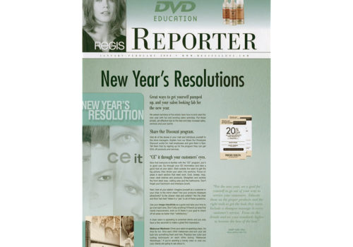 Newsletter Design - Regis Corporation